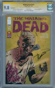 Walking Dead #115 NYCC PX Variant Cover D CGC 9.8 Signature Series Signed Robert Kirkman CharlAdlard